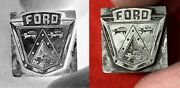 1950s-era Ford Motor Company Crest Coat Of Arms Lead Print Block History Vintage