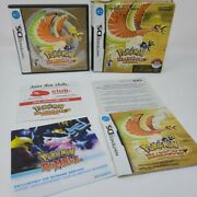 Authentic Nintendo Ds Pokemon Big Box Heart Gold Version No Game Box Only