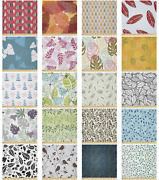 Ambesonne Leaves Bloom Microfiber Fabric By The Yard For Arts And Crafts