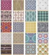 Ambesonne Ethnic Details Microfiber Fabric By The Yard For Arts And Crafts