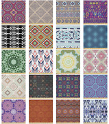 Ambesonne Ethnic Design Microfiber Fabric By The Yard For Arts And Crafts