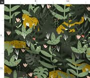Leopard Endangered Species Animals Jungle Spoonflower Fabric By The Yard