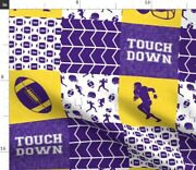 Touch Down Chevron Football College Football Spoonflower Fabric By The Yard