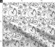 Antique Bikes Bicycles Vintage Black White Old Spoonflower Fabric By The Yard