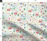 Medicine Get Well Soon Healthy Doctor Ill Spoonflower Fabric By The Yard