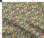 Vintage Retro 1950s 1960s Mod Mid Century Spoonflower Fabric By The Yard