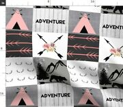 Woodland Bear Wholecloth Mountain Adventure Tipi Spoonflower Fabric By The Yard