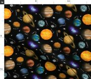 Earth Venus Planets Mars Solar System Pluto Spoonflower Fabric By The Yard