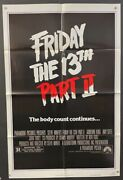 Friday The 13th Part 2 Original Movie Poster - Horror Sequel Hollywood Posters
