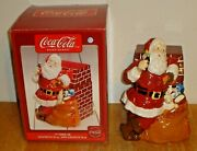 2005 Coca-cola Santa Claus And Sack Of Toys 11 Cookie Jar W/ Box By Gibson Coke