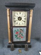 Antique Signed Seth Thomas Pillar And Scroll Clock Weight Driven