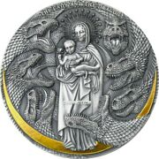 2021 3 Oz Silver Apocalypse The Lady N The Dragon Antique Finish Coin.