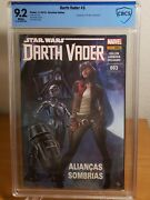 Star Wars Darth Vader 3 Cbcs 9.2 [a] 2015 Brazilian Edition 1st Doctor Aphra