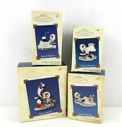 4 Hallmark Frosty Friends Ornaments 23,24,25,26 2002,2003,2004,2005 Boxed T06