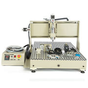 6090 Cnc Router Metal Engraver Milling Machine Usb 4 Axis 3d Cutter 2200w Vfd