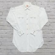 Vintage 50s Short Horn Saw Tooth Pearl Snap Western Shirt Rare Lvc