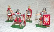 Blue Box Roman Toy Diecast Soldiers Lot Of 4