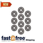 Pipe Decor 3/8 Malleable Cast Iron Floor Flange 10 Pack, Industrial Steel Gr...