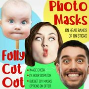 Personalised Photo Face Masks Assembled Diy Kits String Sticks Wholesale Prices