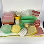 Huge Lot Vintage Tupperware Containers Pitcher Bowls For Restoration As Is