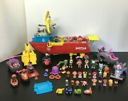 Paw Patrol Sea Patroller Transforming Boat Working And Large Figure/vehicle Lot