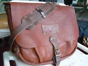 Vintage Will Leather Goods Authentic Mail Postal Carrier Leather Messenger