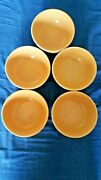 Varages Made In France Bowl Yellow Set Of 5 Scallop Edge H3 And039and039 X6 Dand039and039 Very Nice
