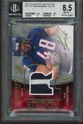 2010 Exquisite Jersey 131 Rob Gronkowski Bgs 8.5 / Auto 10 Rookie Rc 109/120