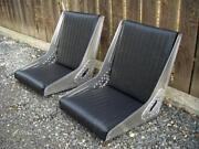 Bomber Seat, 1 Pair, Tuck And Roll Upholstery, Aluminum Rivets, Hot Rod, Rat Rod