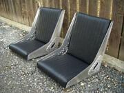 Bomber Seat 1 Pair Tuck And Roll Upholstery Aluminum Rivets Hot Rod Rat Rod