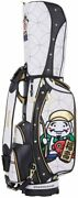 Winwin Style Lucky Gods Cart Bag / Caddy Bag 9 Type Gold Version Cb-363 Wh × Bk