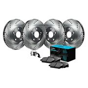 For Mercedes-benz 560sel 86-91 Brake Kit Eline Series Drilled And Slotted Front And
