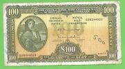 100 Irish Pounds Series A Lavery Banknote The Central Bank Of Ireland 4.4.77