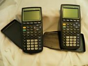 Lot Of 2 Texas Instruments Ti-83 Plus Graphing Calculators Tested Working Math