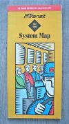 Vintage 1992 Pittsburgh Pa Transit System Map Guide Bus Trolley