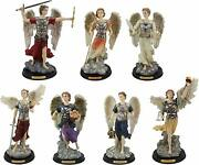 Ebros Archangels Colorful Saint Statues With Brass Name Plate Base Set Of 7