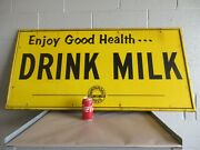 Antique Tin Sign Advertising Milk Wirthmore Poultry Dairy Feed Farmer Cow Nice