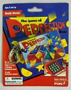 New The Game Of Perfection Keychain Vtg 2000 Works Basic Fun Rare Mini Toy