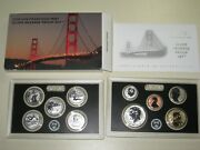 2018-s Us Mint Silver Reverse Proof Set 50th Anniversary 10 Coins Box And Coa