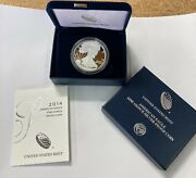 2014 1oz American Silver Proof Eagle 1 Coin With Box And Coa