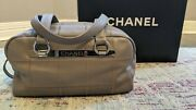 Vintage New Iob Grey Gray Lax Bowling Bag Purse - New Mint Condition