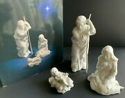 1981 Avon Nativity Collectibles Holy Family 3 Porcelain Bisque Figurines White