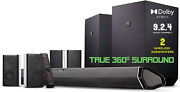 Speakers Ultra 1000w Dolby Atmos Soundbar Dual 10 Subwoofers Surround Effects