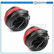 20500lb Synthetic Winch Rope 95and039 Line Recovery Cable Off-road Good Quality 2pcs