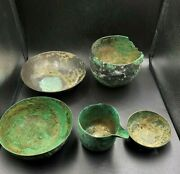 Antique Ancient Bronze Bactrian Romanand039s Greekand039s Bowl Plates Jar Kitchen Objects