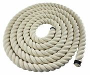 40mm White Synthetic Cotton Rope Decoration Handrail Barrier Decking