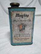 Vintage Maytag Multi-motor Oil And Gas Fuel Mixing Can/tin Quart