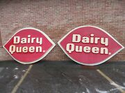 Vintage Dairy Queen Sign Outside Store Huge 9 Feet 8 X 5 Feet 11 Circa 1960