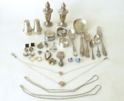 Vintage Sterling Silver Lot Jewelry And Misc Items Scrap Or Not