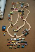 Huge Wooden Thomas Train Track And Trains Bundle Job Lot - Lots Of Buildings +